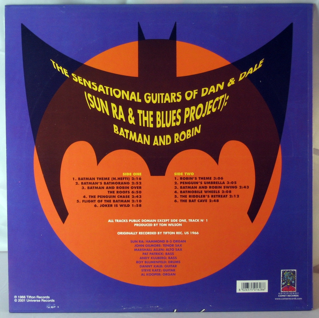 Sun Ra Amp The Blues Project Batman And Robin Picture Disc