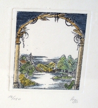 "small Lithograph ""Outlook"""