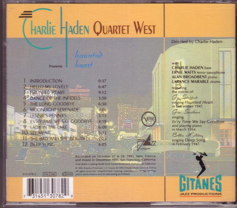 Charlie Haden Quartet West Haunted Heart