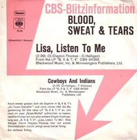 Blood, Sweat & Tears - Lisa, Listen To Me